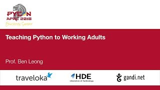 Teaching Python to Working Adults - Education Summit 2018