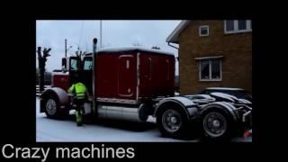 Подборка 2017 Зимний Запуск Американских грузовиков Peterbilt