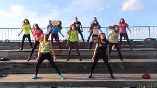 Современный танец Uptown Funk + Salute. (with ginger kitten ;) Танцуют Олимповцы!!! ;)