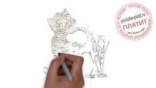 Нарисованный мультяшный кот  Как нарисовать кота быстро карандашом(нарисованный кот, как нарисовать кота, поэтапно нарисовать кота, как нарисовать кота поэтапно, нарисовать..., 2014-07-20T07:21:12.000Z)