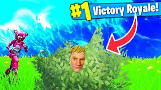 CAN YOU WIN AS A BUSH WOOKIE IN FORTNITE! THE BEST SKIN FOR BUSH CAMPING!