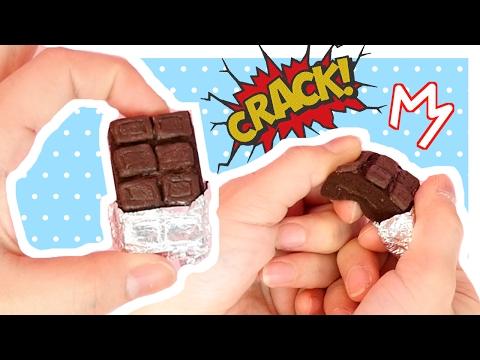 DIY Miniature Cracking Chocolate Squishy Tutorial