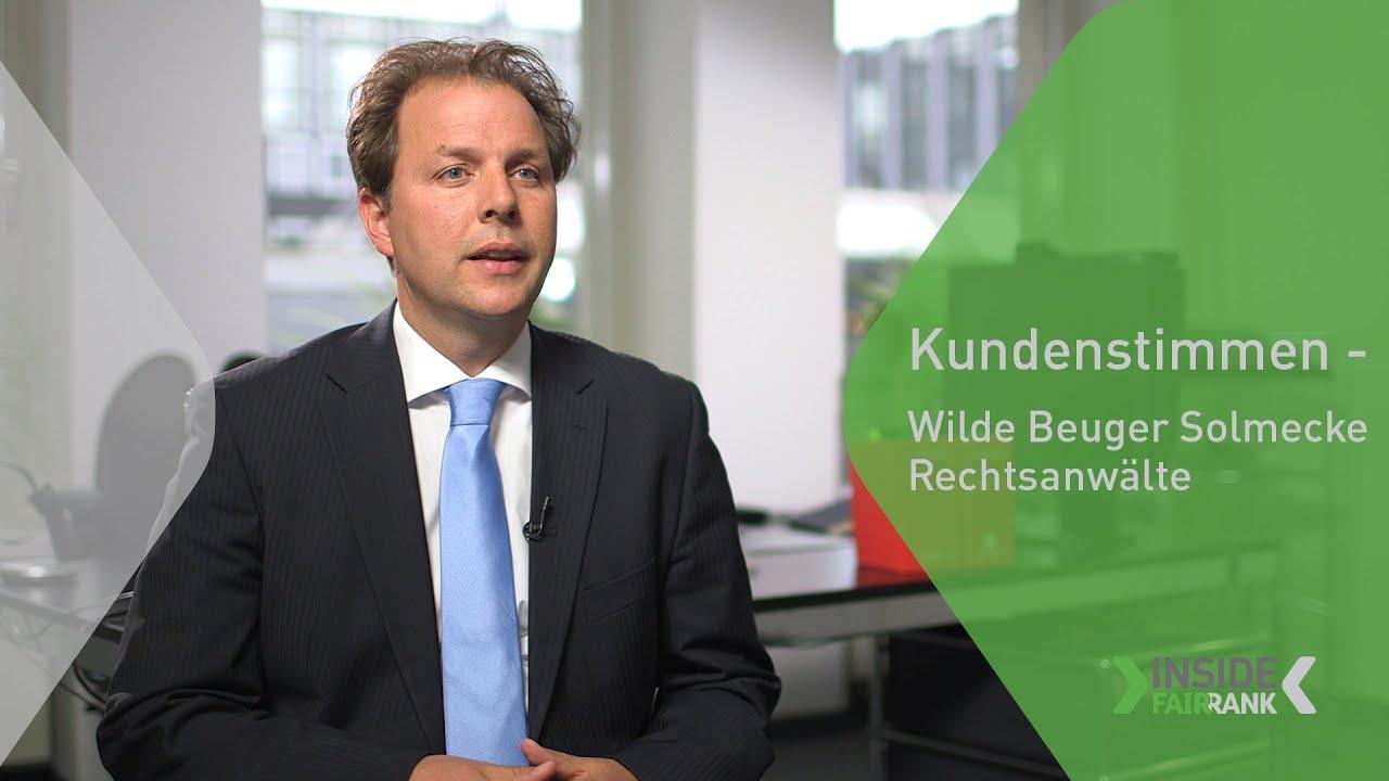 Kundenstimmen - Wilde Beuger Solmecke Rechtsanwälte | FAIRRANK TV - Inside Fairrank