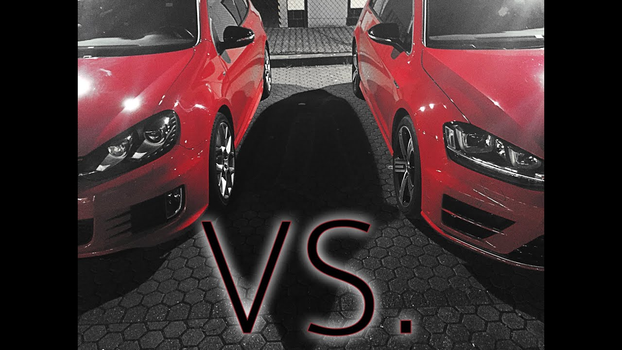 vw golf vii r vs vw golf vi gti edition 35 100 200kmh. Black Bedroom Furniture Sets. Home Design Ideas