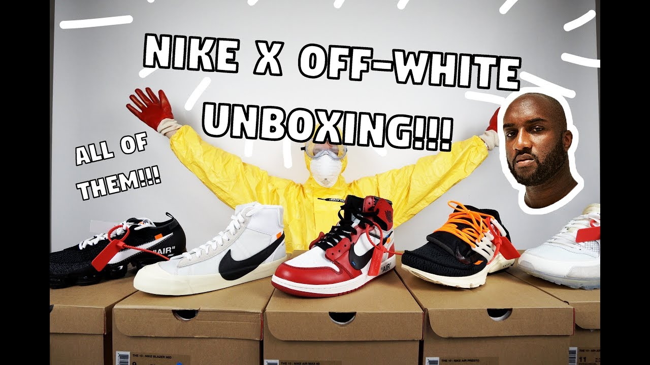 2cd3cb74fe85 Unboxing ALL Of The Nike x Off-White Sneakers!!! - YouTube