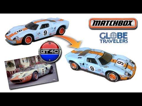 Matchbox '68 Gulf FORD GT40 | Review, Wheel Swap & Detail Job