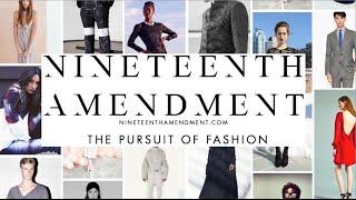 Nineteenth Amendment NY Fashion Tech Lab Demo Day Pitch