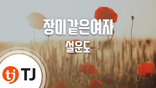 [TJ노래방] 장미같은여자 - 설운도 ( - Sul Woon Do) / TJ Karaoke