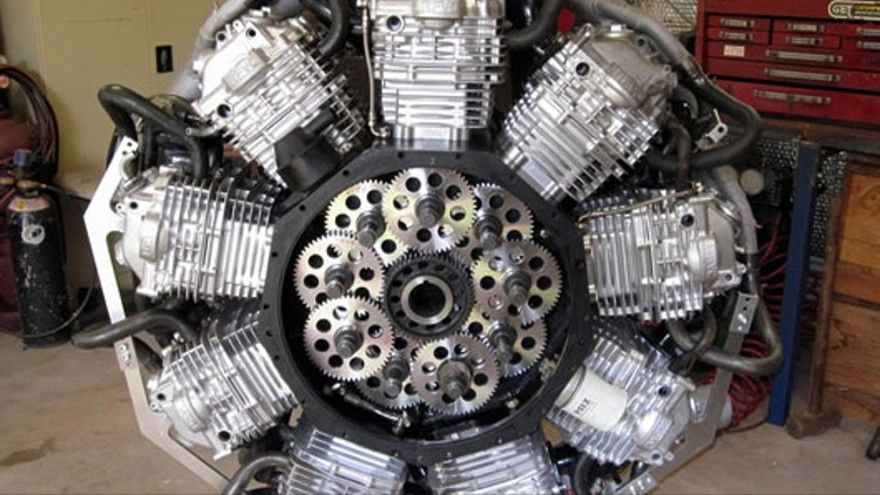 Удивительные самодельные двигатели на авто.
