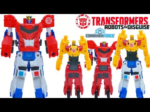 TRANSFORMERS COMBINER FORCE WAVE 1 ONE STEP CHANGERS BEESIDE PRIMESTRONG COMBINE OPTIMUS BUMBLEBEE