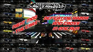 Gameplay 2 NFS Most Wanted Black Edition - Night MOD + THE CARS +