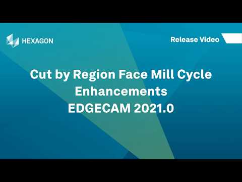 Cut by Region Face Mill Cycle Enhancements | EDGECAM 2021.0