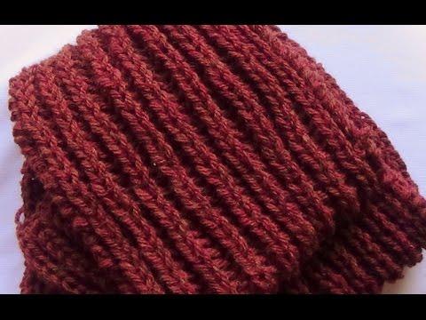 Como Tejer Bufanda Hombre,Knit Scarf for Men 2a.Parte 2 Agujas (177) , YouTube