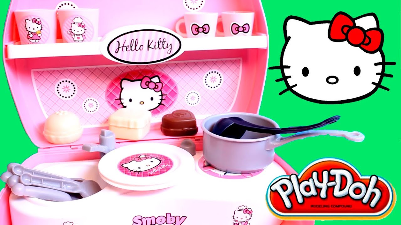 Play Doh Hello Kitty Mini Kitchen Playset Mini Cocina Juguetes