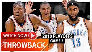 Kevin Durant, Russell Westbrook & James Harden Game 3 Highlights vs Lakers (2010 Playoffs) - EPIC!