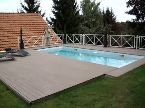 Piscine s curis e youtube for Terrasse coulissante piscine