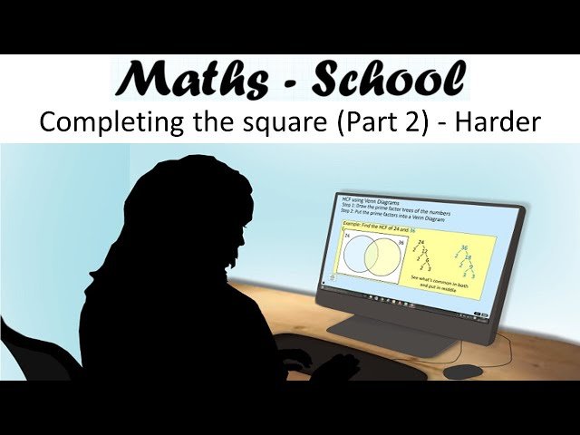 Completing the square (Part 2) - coefficients of x^2 greater than 1. Higher GCSE Maths Revision