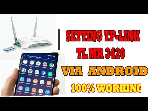 CARA SETTING TP LINK TL WR 3420 3G I 4G Wireless N Router VIA HP ANDROID