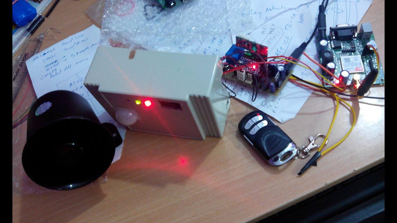 Security System Using Arduino Pir Sensor And Gsm Based Home 8051 Photos