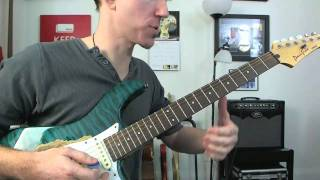 How To ACDC'ify Open Chords - Electric Rock Guitar Lesson