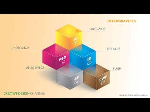 Infographic Tutorial infographic tutorial illustrator beginner tutorials to learn : Infographic 3D Graphic Design | Illustrator Tutorials - YouTube