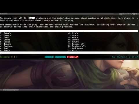 Aspell - Spell Checking - Linux CLI