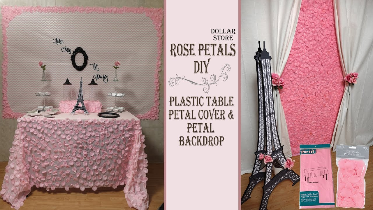 Pink Theme Party Idea Table Cover Backdrop Diys Paris Theme