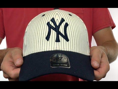 5910cf0c264 Yankees  HOME-RUN PINSTRIPE STRAPBACK  Hat by Twins 47 Brand - YouTube