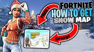 FORTNITE HOW TO GET SNOW MAP !! TUTORIAL ( FORTNITE KAR MAPINDA OYNAMA !! )