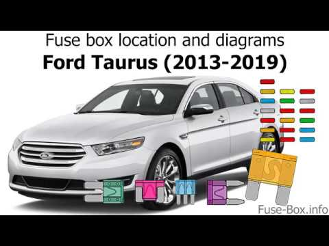 fuse box location and diagrams: ford taurus (2013-2019)