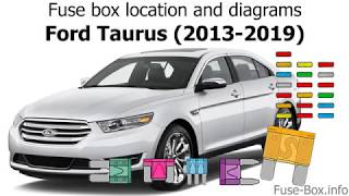 Fuse Box Location And Diagrams Ford Taurus 2013 2019 Youtube