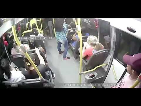 Câmeras flagram arrastão em ônibus de São Gonçalo do Amarante