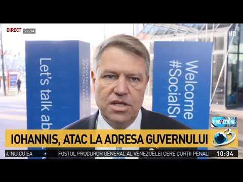 Klaus Iohannis, declarații în Suedia