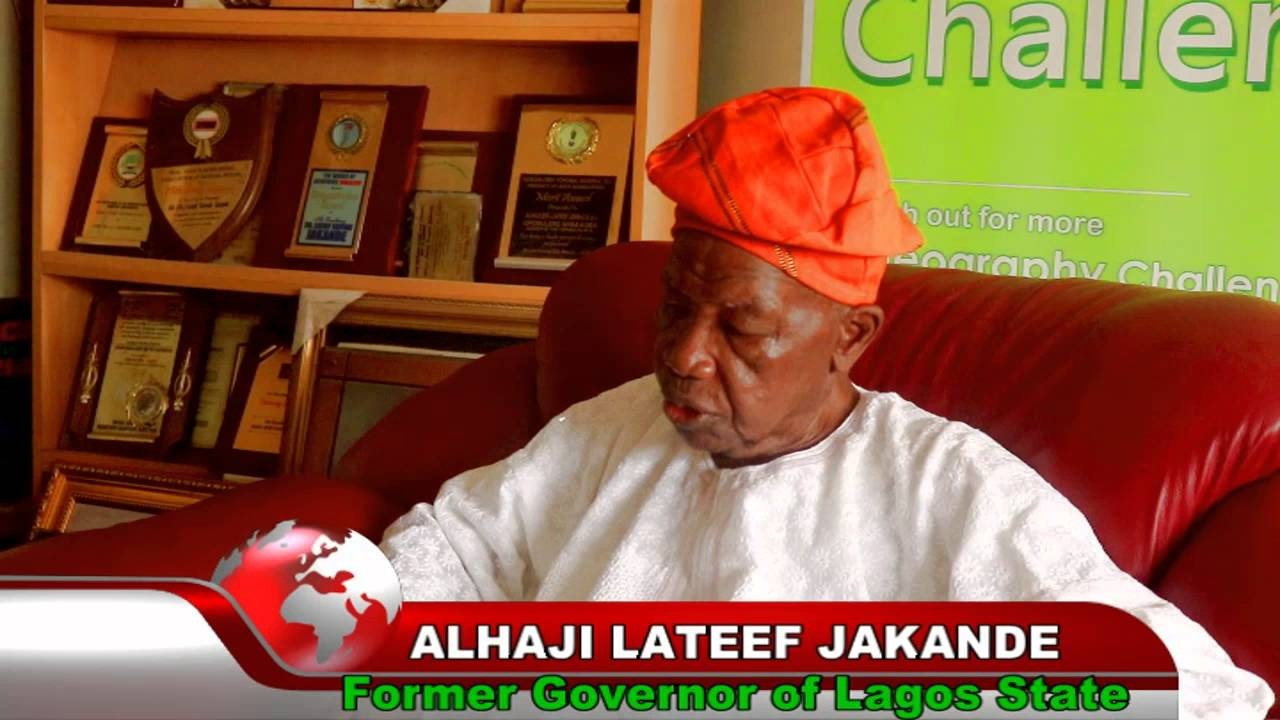 Alhaji Lateef Jakande, Former Governor of Lagos State. Photo: YouTube