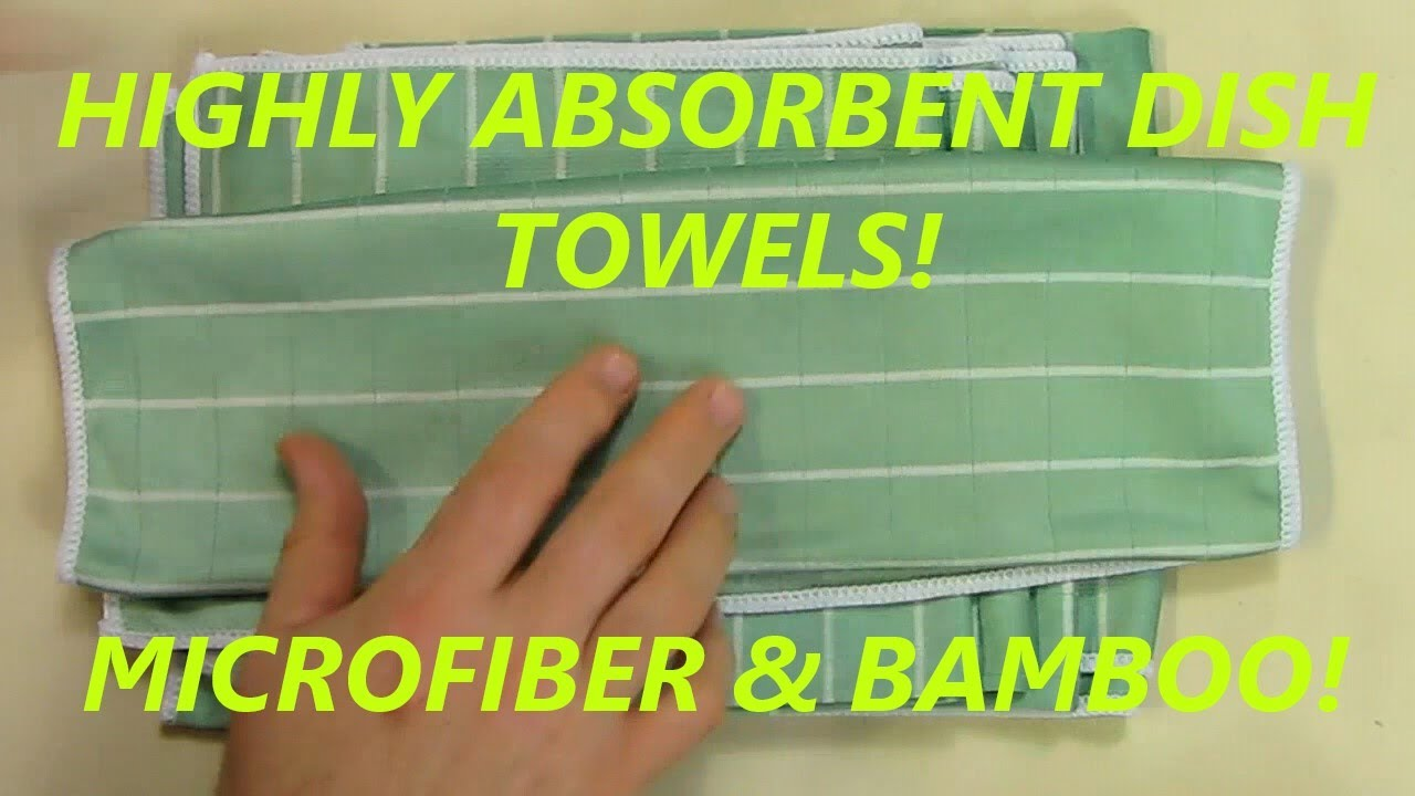 Kitchen Dish Towels Custom Cabinet Doors Highly Absorbent Microfiber And Bamboo Youtube