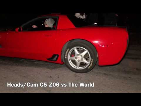 Heads/Cam C5 Z06 takes on EVERYONE!