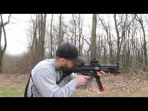 Walther HK MP5 A5 .22lr SBR In Action!
