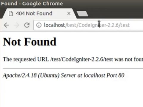 Codeigniter - error when Redirect URL(Not Found) in Ubuntu 16 04