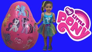 My Little Pony Giant Egg Surprise Opening Unboxing New MLP Toys + Princess Twilight Sparkle thumbnail