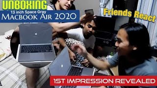UNBOXING 2020 APPLE MACBOOK AIR 13 inch - SPACE GRAY |  FIRST IMPRESSION REVEALED