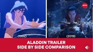 ALADDIN - 1992 and 2019 Side By Side Comparison | AMC Theatres (2019) thumbnail