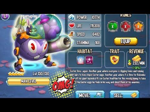 ☻ Monster Legends - Rabooka level 130 vs super tomato combat review