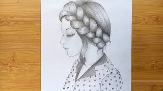 draw pencil sketch step hairstyle