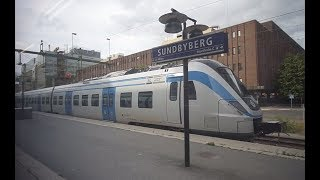Sweden, train ride from Stockholm City to Sundbyberg