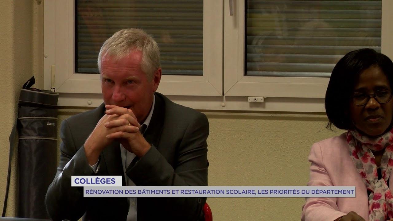 Collèges : Rénovation des bâtiments et restauration scolaire, les priorités du département