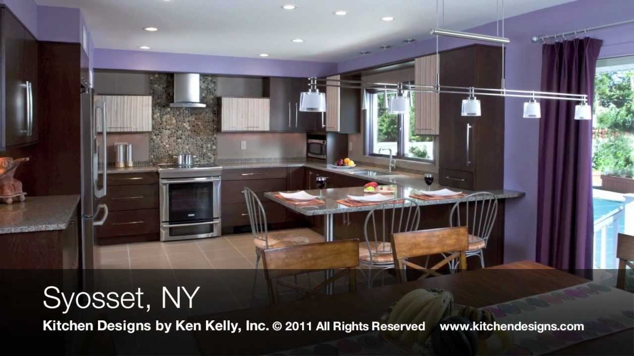 kitchen designs by ken kelly transitional kitchen design syosset ny youtube. Black Bedroom Furniture Sets. Home Design Ideas