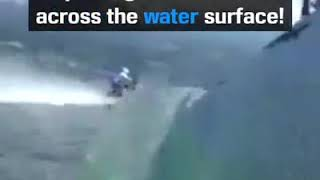 Riding Motorcycle on Water | World Record | Gravity Defying