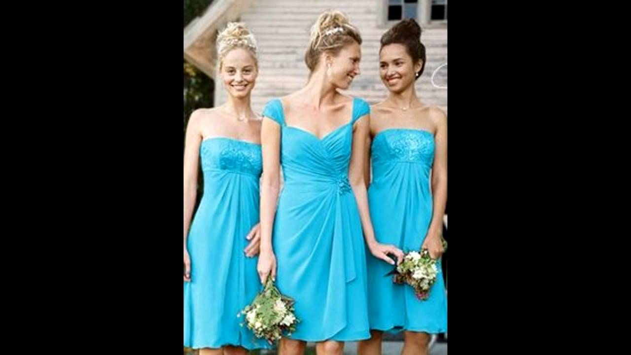 Davids Bridal Turquoise Bridesmaid Dresses 1 Youtube