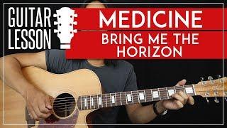 Medicine Guitar Tutorial - Bring Me The Horizon Guitar Lesson 🎸|TABS + No Capo + Guitar Cover|
