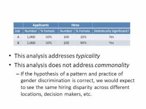 Examining Class Certification Issues with Statistical Analysis